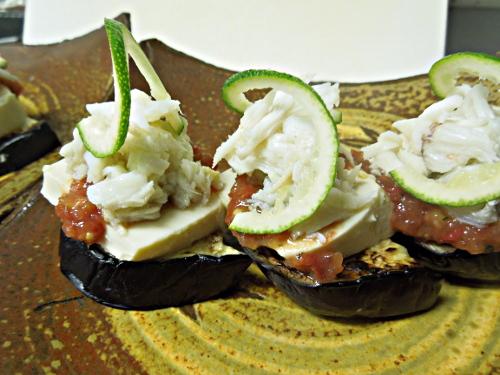 渡り蟹と豆酪の冷菜
