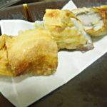 太刀魚と小芋の湯葉巻き揚げ