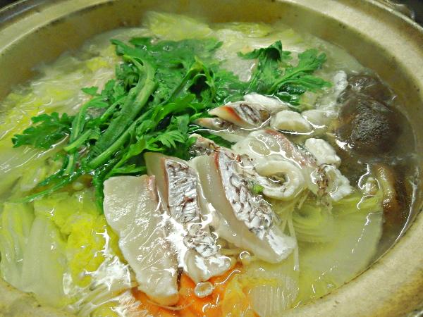 桜鯛の鯛しゃぶ鍋