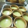 枝豆とたたきトマトの冷製茶碗蒸し