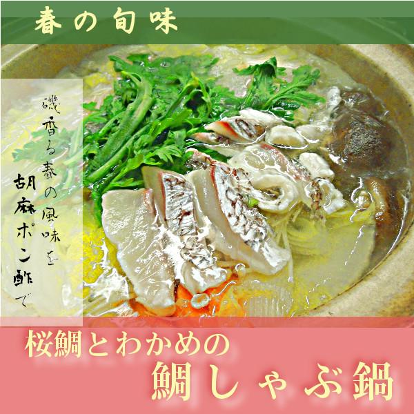 桜鯛とわかめの鯛しゃぶ鍋