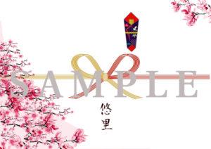 のし 掛け紙桜 満開