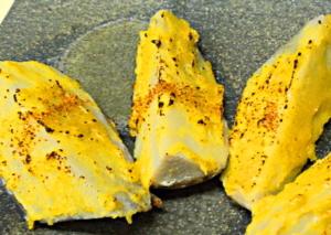海老芋の柚子味噌焼き